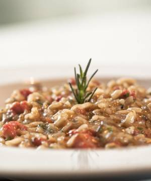 Risoto de Funghi Porcini e Linguiça Toscana