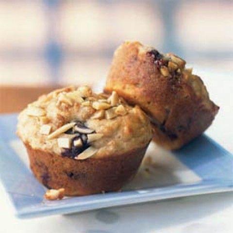 Muffins de Blueberry com Streusel de amêndoas