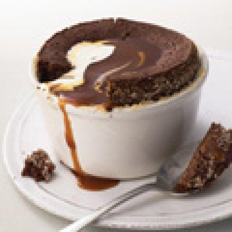 Pudim de Chocolate com calda de caramelo