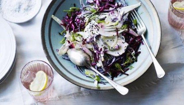 Salada de beterraba e erva-doce