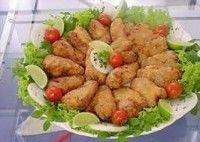 Asas de frango empanadas