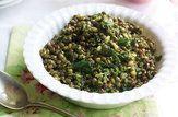 Salada de lentilha com hortelã