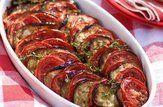 Salada de berinjela e tomate assados