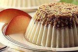 Cheesecake com cobertura de amêndoas