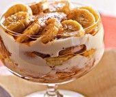 Pavê de banana caramelada
